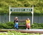 Arch Laser 00902 Woody Bay Platform Running in Signs (Pair)